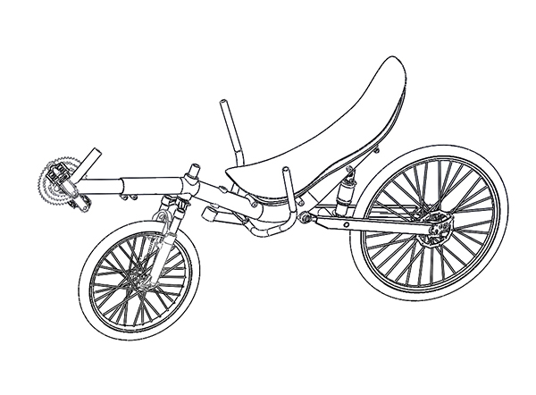 design drawing of modular tricycles